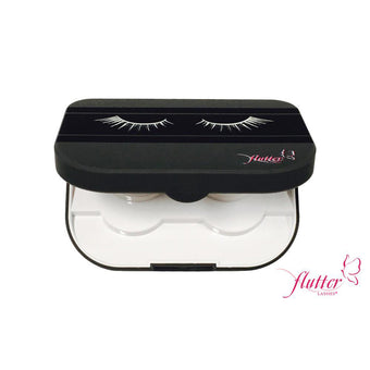 alt Flutter Lashes Mirrored Compact Case
