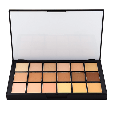 alt Ben Nye Matte HD Foundation Palette - 18 Colors Global (HDFP-31)