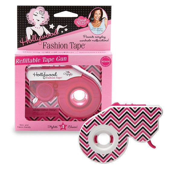 Hollywood Fashion Secrets - Fashion Tape® Refillable Gun - Classic Chevron Pattern | Camera Ready Cosmetics - 2