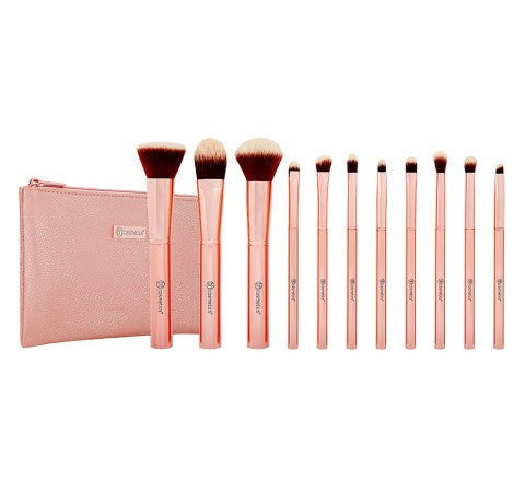 Bh Cosmetics Metal Rose 11 Piece Brush Set With Cosmetic