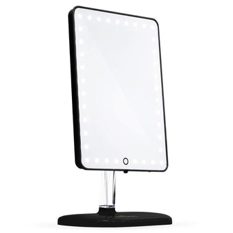 alt Impressions Vanity Co Touch Pro LED Makeup Mirror w/ Bluetooth Audio + Speakerphone & USB Charger Pro Black