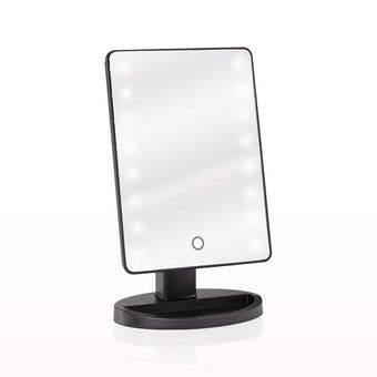 Camera ready cosmetics led lighted table top makeup mirror alt camera ready cosmetics led lighted table top makeup mirror black aloadofball Image collections