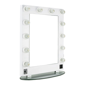 alt Just Case Hiker Mirror Light Glass Stand - HKL4301 White (HKL4301PCWH)