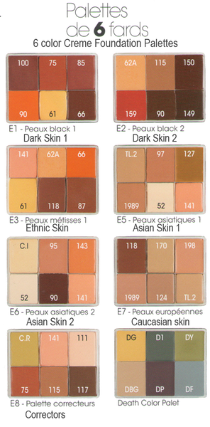 alt Maqpro 6-color Fard Creme Foundation Palette