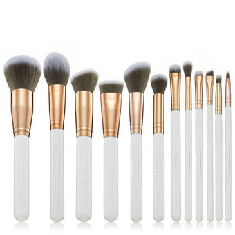 alt Spectrum White Marbleous 12 Piece Brush Set