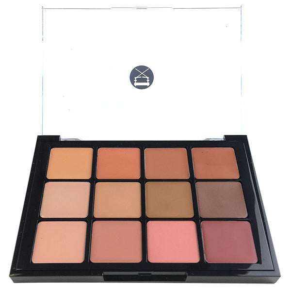 Viseart 12-Color Lip Palette - 01 Muse Nudes -  | Camera Ready Cosmetics - 1