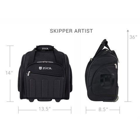 Zuca Black Skipper Artist Bag (USA Only)  | Camera Ready Cosmetics