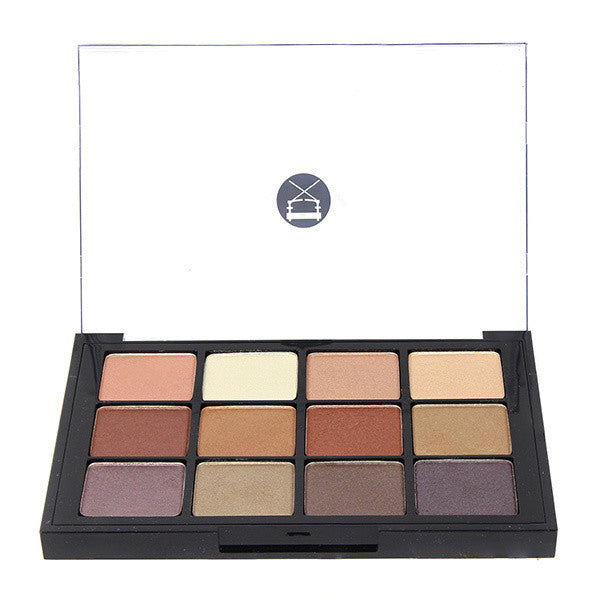 Viseart 12-Color Eyeshadow Palette - 06 Paris Nudes -  | Camera Ready Cosmetics - 1