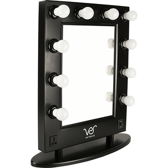 Just Case - Ver Beauty LED Light Vanity Mirror w/Dimmer (VMR4512-PPAB Black)