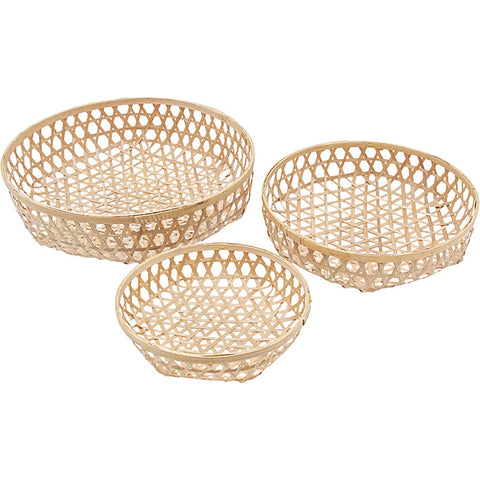 Bamboo Trio Of Baskets