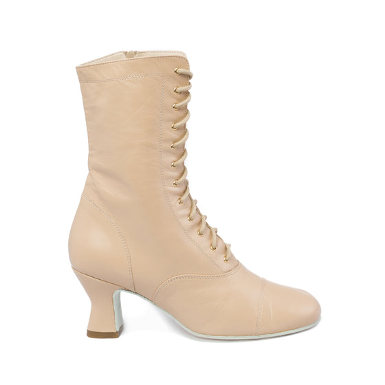 Annie Beige Can Can Boot Soft Sole- OVERSTOCK SALE