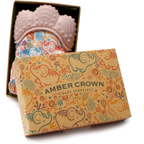 Amber Crown Teething Mitten