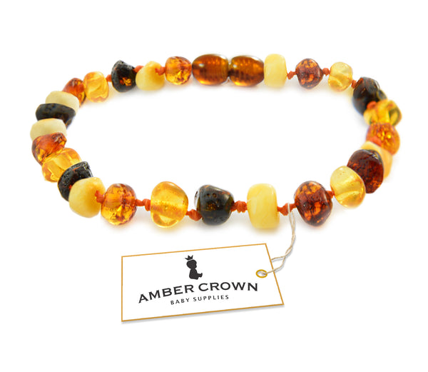 Amber Teething Bracelet / Anklet (Multi-Color)