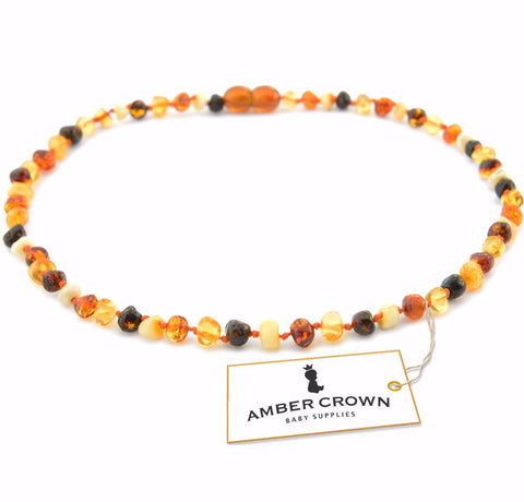 Amber Teething Necklace (Multicolor)
