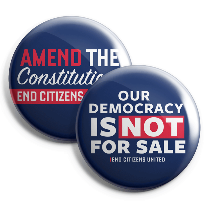 Our Democracy is NOT for Sale button collection (Set of 2)