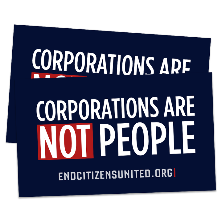 Corporations are NOT People Sticker (Set of 2)