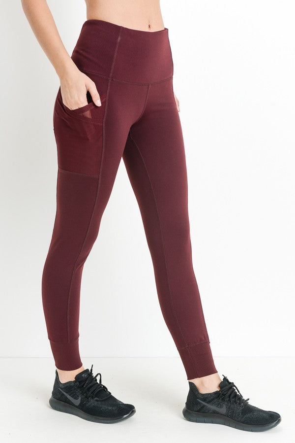Run To Burgundy Legging