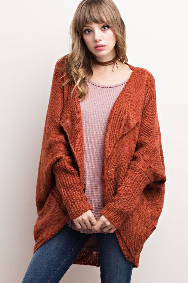 Coffee Shop Dreams Sweater - Rust