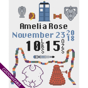 Birth Announcement for a Miniature Time Lord
