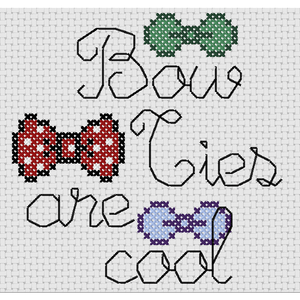 Cross Stitch - Bow Ties Are Cool