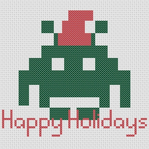 Cross Stitch - Christmas Invaders