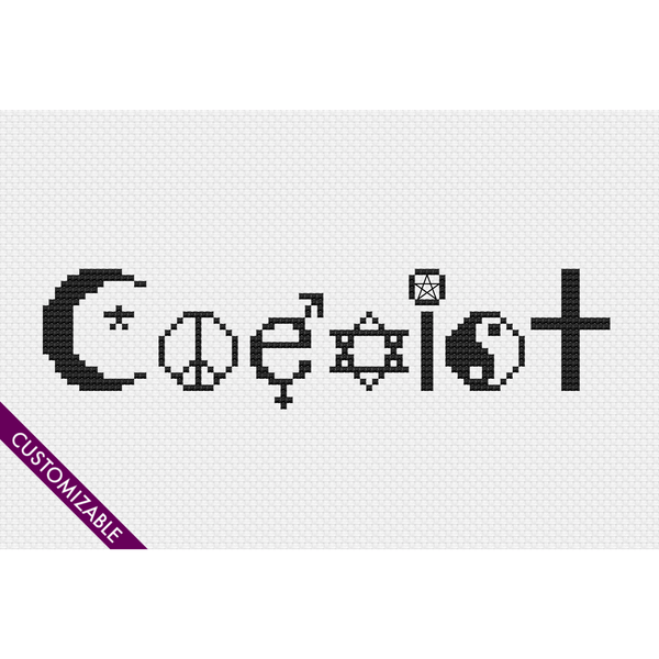 Cross Stitch - Coexist
