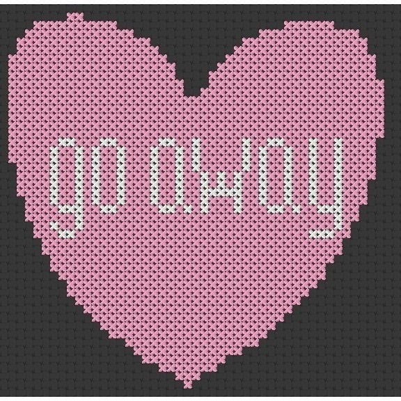 Cross Stitch - Go Away