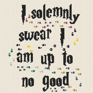 Cross Stitch - I Solemnly Swear