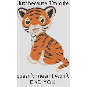 Cross Stitch - Just Because I'm Cute...