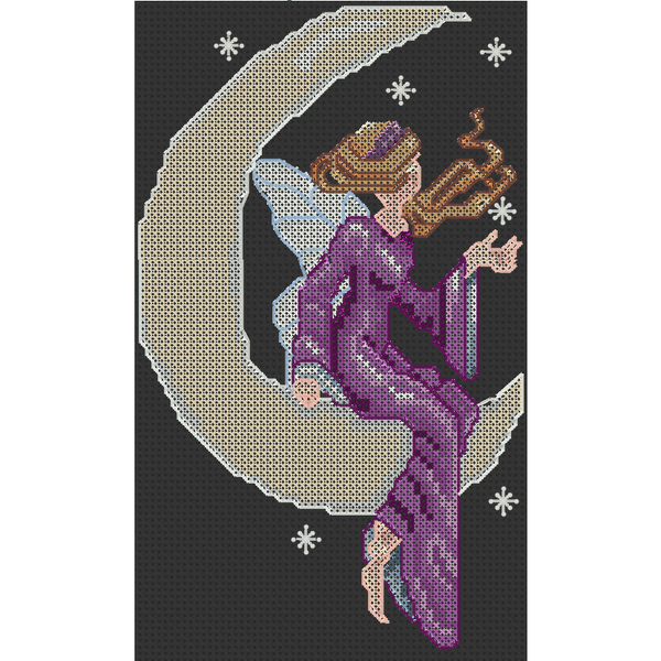 Cross Stitch - Midnight On The Moon
