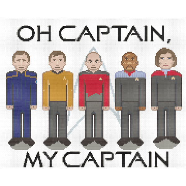 Cross Stitch - Oh Captain, My Captain
