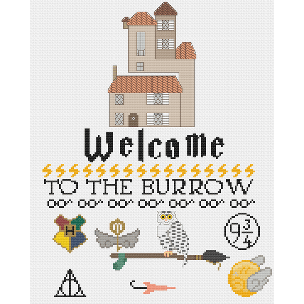 Cross Stitch - Welcome To The Burrow