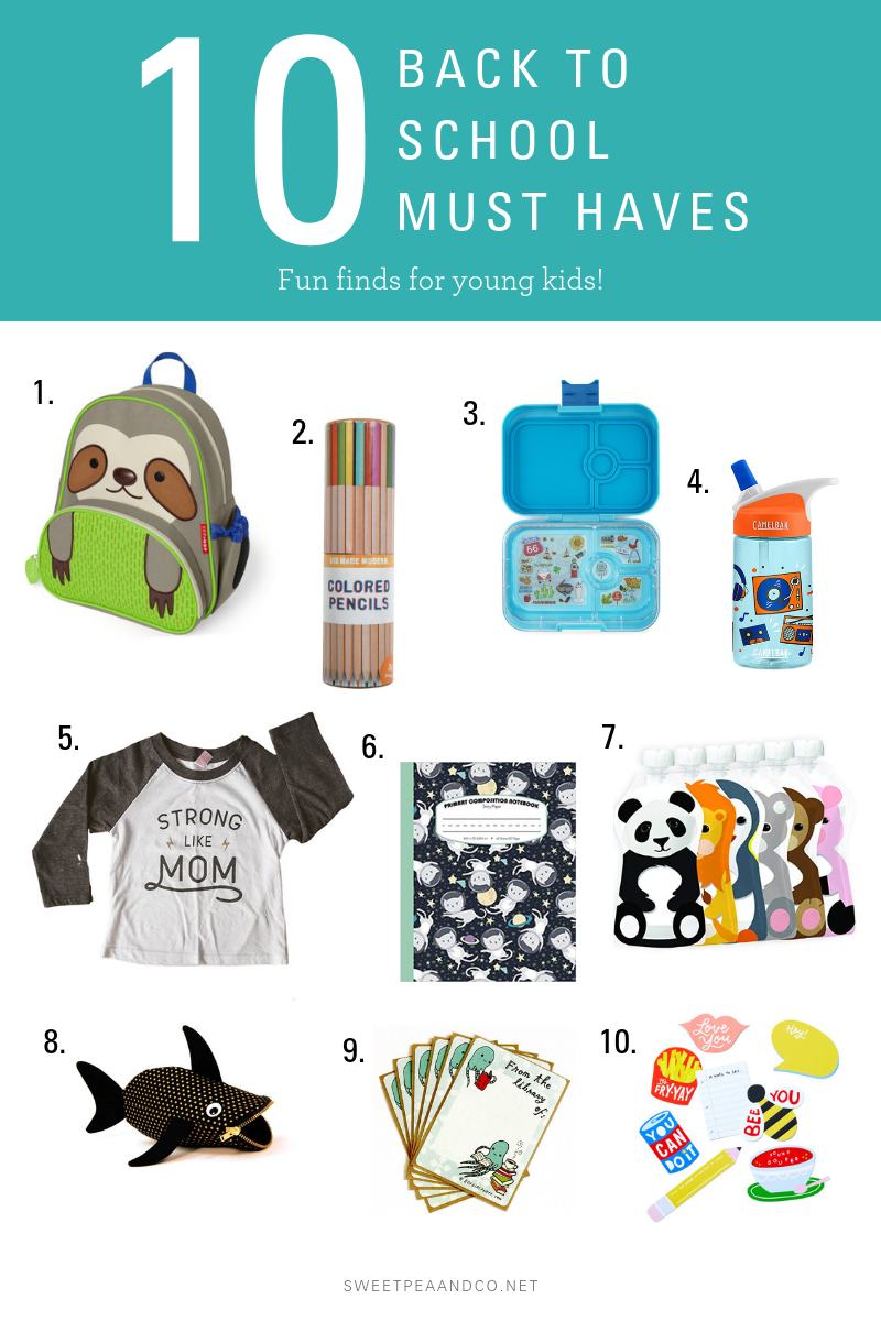 10 back to school must haves for kids