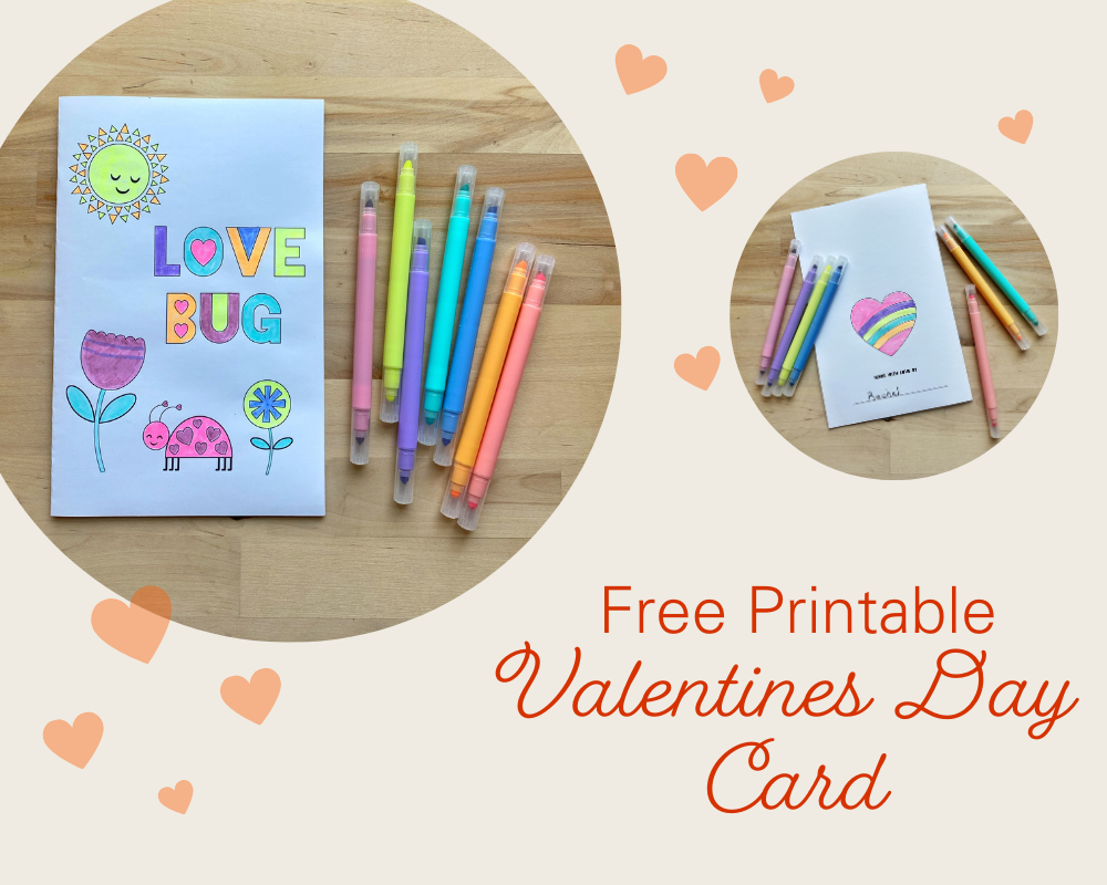 Fun Valentine's Day Printable Card for Kids