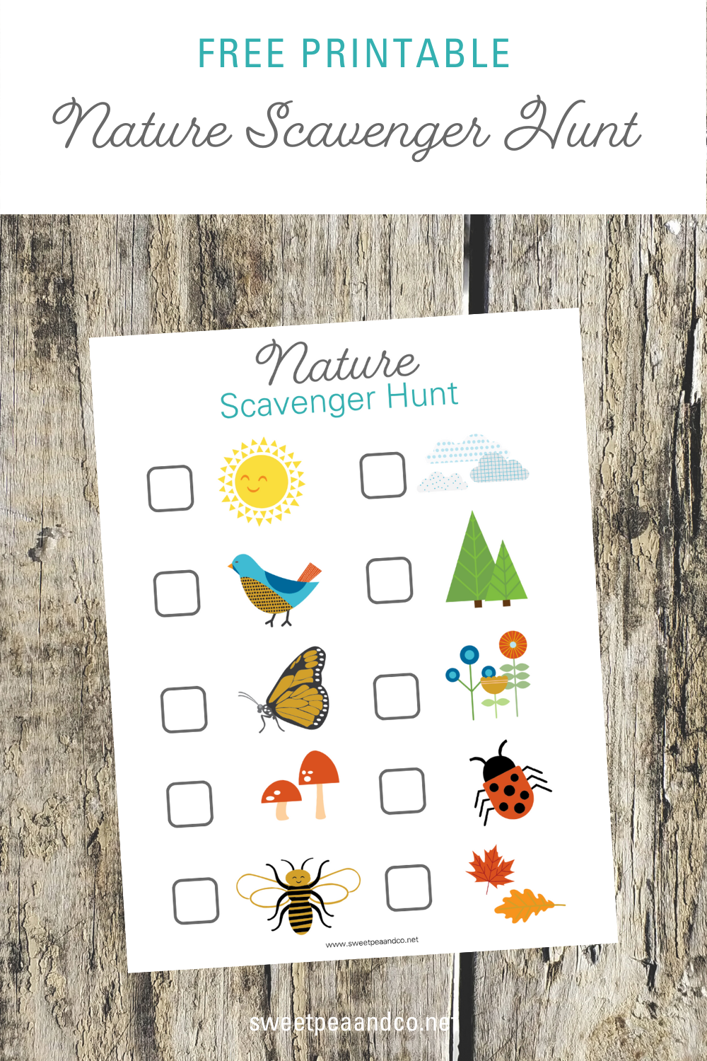 Get outdoors with a nature scavenger hunt