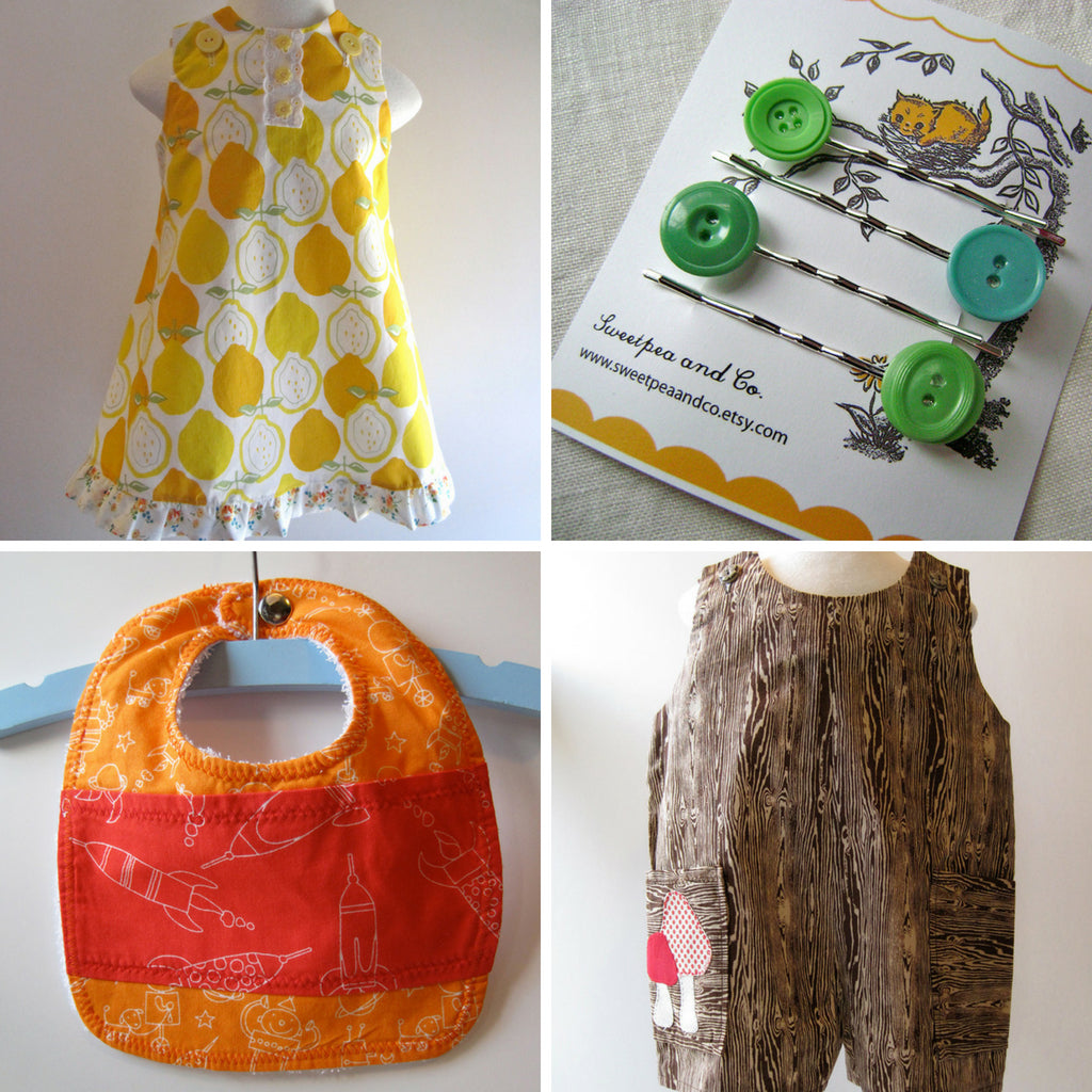 Handmade sewn children's clothing by Sweetpea and Co
