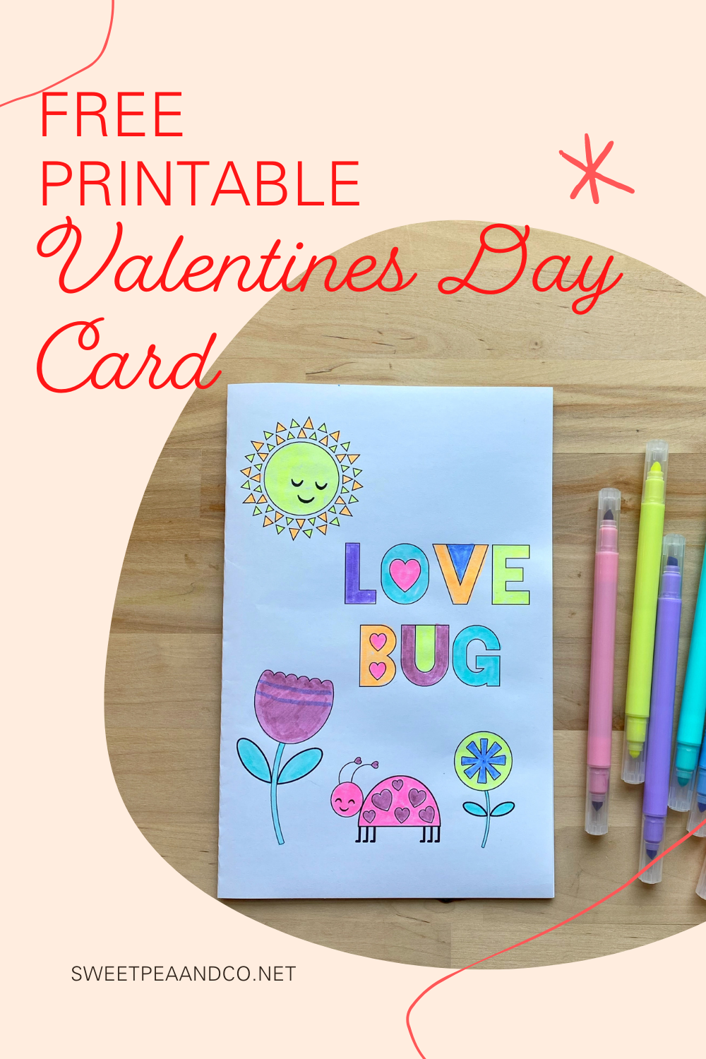 Printable Valentine's Day Card for Kids