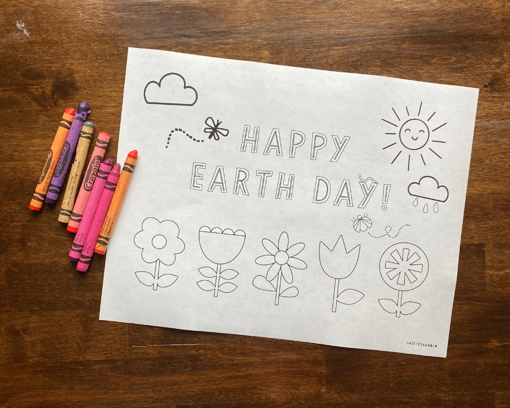 earth day coloring sheet
