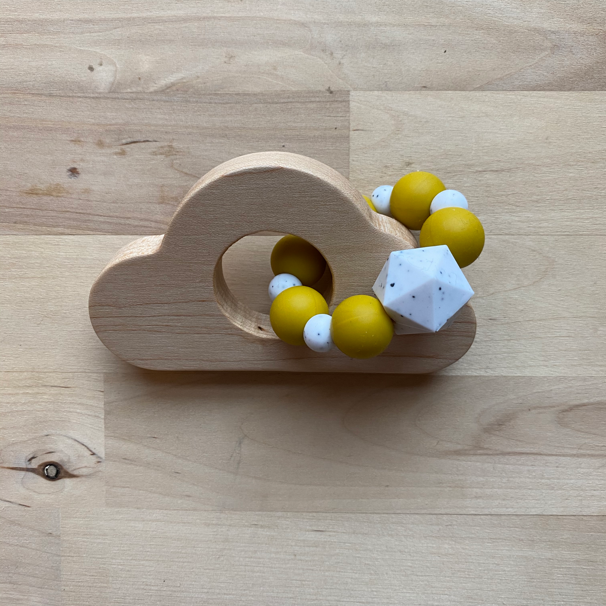 Limited Edition Winter 2020 Cloud Wood and Bead Baby Teether