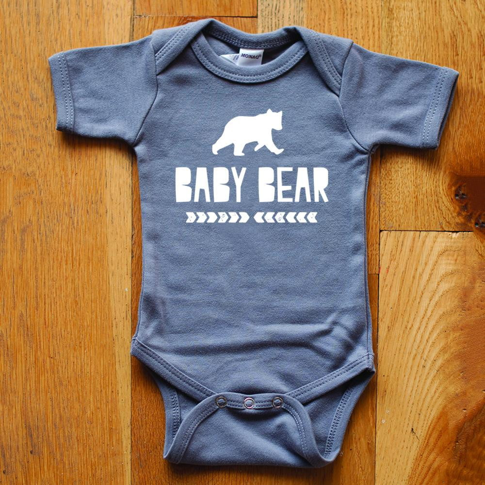 Baby Bear in Light Gray Baby Bodysuit - Sweetpea and Co.