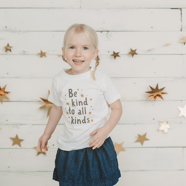 Be Kind to all Kinds Kid's T-shirt 1