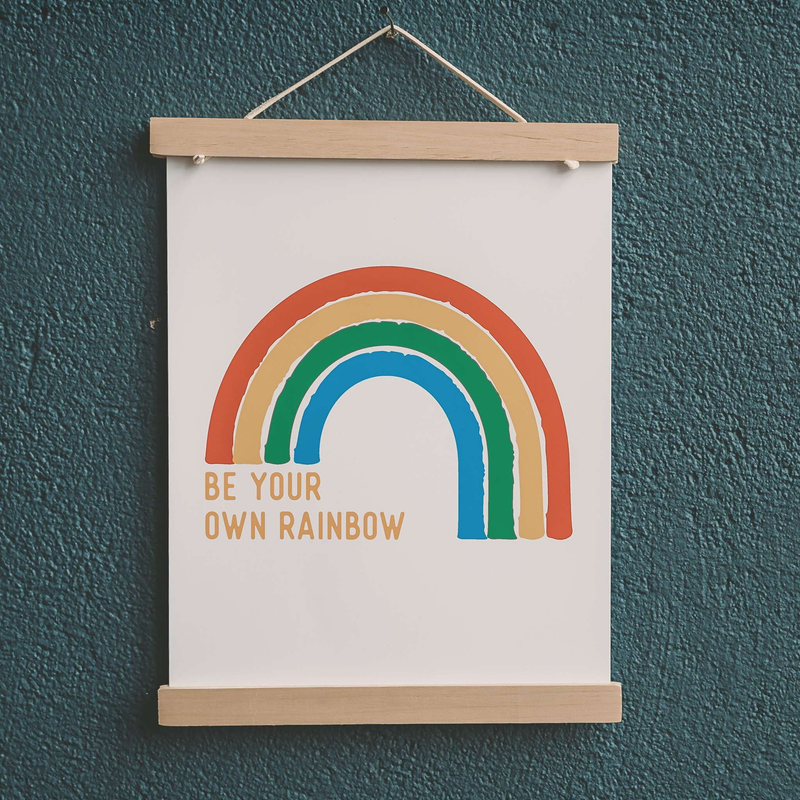 Wholesale Be Your Own Rainbow Art Print - Sweetpea and Co.