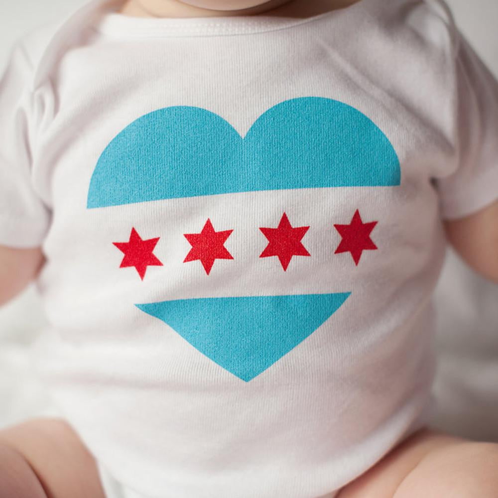 Chicago Flag Baby Bodysuit - Sweetpea and Co.
