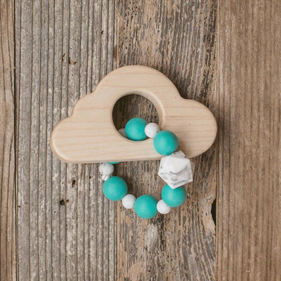 Cloud Wood and Bead Baby Teether - Sweetpea and Co.