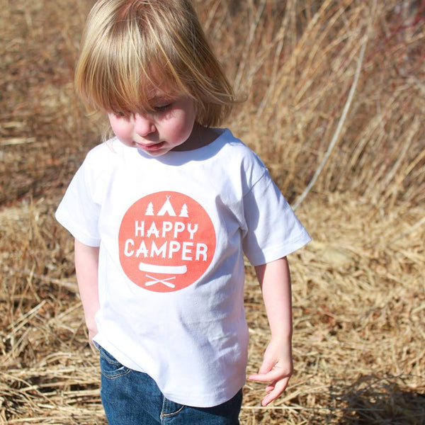 Happy Camper Organic Cotton T-Shirt - Sweetpea and Co.