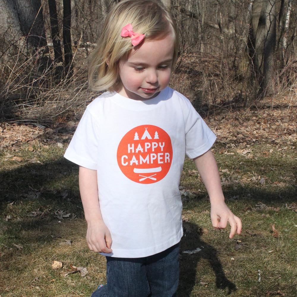 Happy Camper Cotton T-Shirt - Sweetpea and Co.