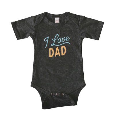 I Love Dad baby bodysuit