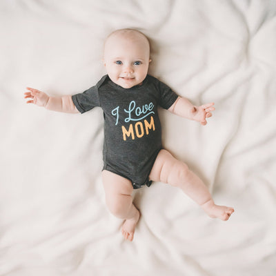 PRE-ORDER - I Love Mom baby bodysuit / onesie - Sweetpea and Co.