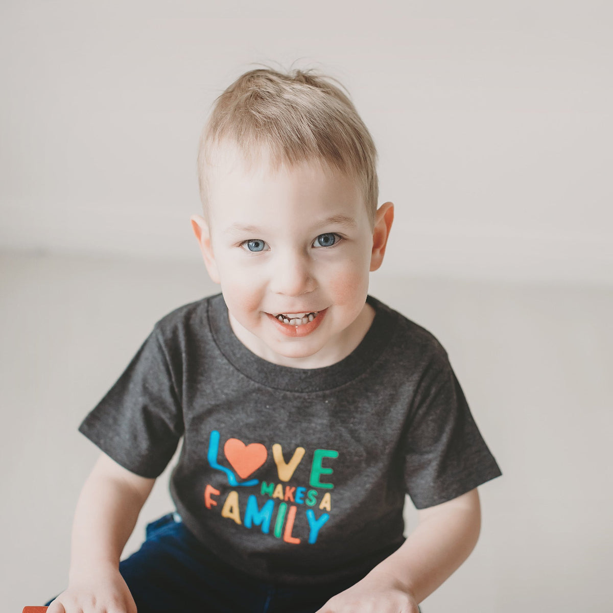 Love Makes a Family Kid's T-shirt - wholesale - Sweetpea and Co.