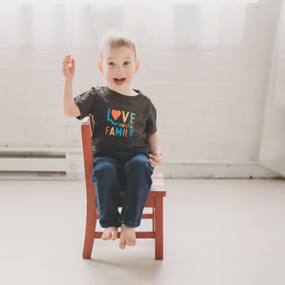 Love Makes a Family Kid's T-shirt - Sweetpea and Co.